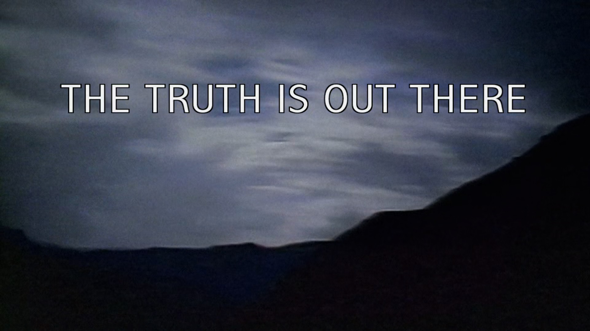 The X Files Oversized Logo Mens T Shirt Lightning Stormy Skies Mulder Scully FBI